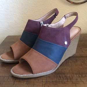 Nautica color block wedge sandals